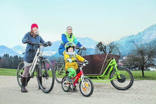 Die Vorarlberger Winterradler nehmen österreichweit die Spitzenstellung ein. VLK