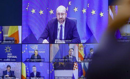EU-Ratschef Charles Michel lud zum virtuellen Gipfel. AP