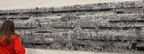 Die surrealistischen Landschaften und Kreaturen von Michael Salvadori bieten wohl einen besonderen Anziehungspunkt im Künstlerhaus. Salvadori, Dietrich