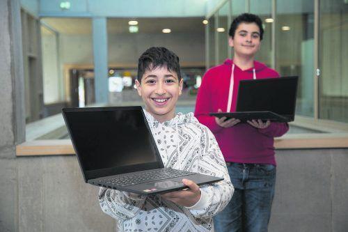 """Die VN-Sozialaktion """"Ma hilft"""" finanzierte heuer schon 45 Laptops.VN/RP"""