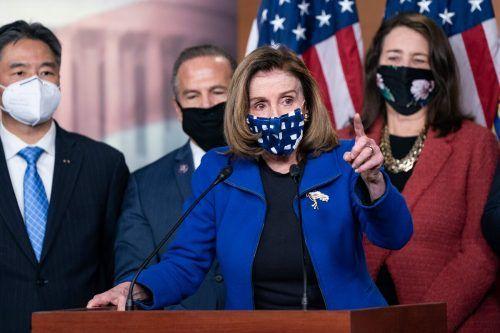 Freispruch für Ex-US-Präsident Trump beim Amtsenthebungsverfahren. Nancy Pelosi bezog als Repräsentantenhaus-Sprecherin Stellung. AFP