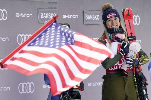 Für Mikaela Shiffrin stehen bei der Weltmeisterschaft in Cortina zwei Titel auf dem Spiel.Ap