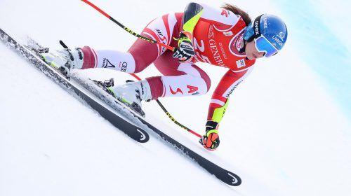 GARMISCH-PARTENKIRCHEN,GERMANY,30.JAN.21 - ALPINE SKIING - FIS World Cup, Super G, ladies. Image shows Christine Scheyer (AUT). Photo: GEPA pictures/ Thomas Bachun