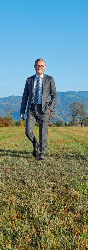 Gerhard Hamel, Vorstandsvorsitzender der Volksbank Vorarlberg. m.hagen