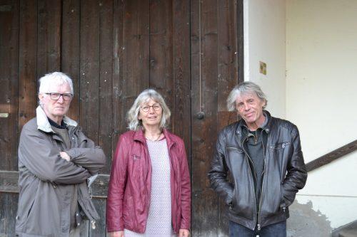 Gregor Pfleger und Stadträtin Marlene Thalhammer mit Galerist Michael Heinzel bei der Vernissage vergangenen Freitag.