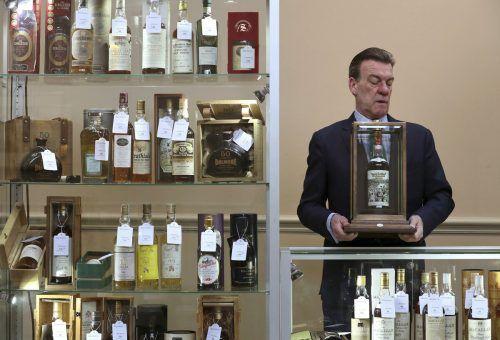 Im Herbst 2019 wurde ein Whisky für knapp 1,5 Millionen Pfund versteigert. AP