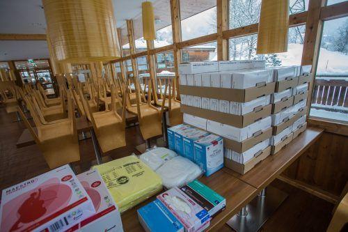 In Klösterle wurde die Test-Ausrüstung bereits vorbereitet. VN/Steurer