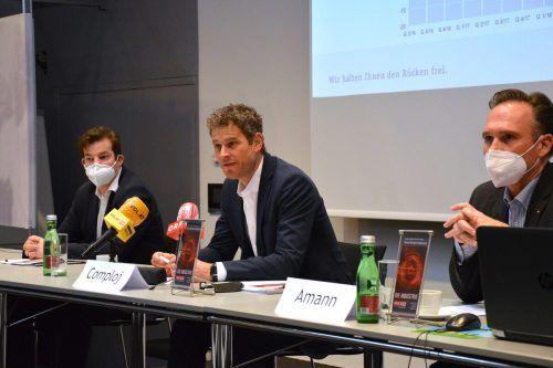 IV-Geschäftsführer Mathias Burtscher, Spartenobmann Markus Comploj und Sparten-Geschäftsführer Michael Amann.industrie