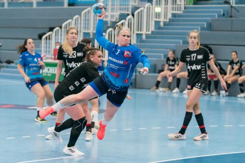 Julia Feierle war nicht zu stoppen und erzielte fünf Tore.VN/DS