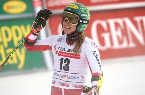 KRANJSKA GORA,SLOVENIA,17.JAN.21 - FIS World Cup, slalom, ladies. Image shows Katharina Liensberger (AUT). Photo: GEPA pictures/ Matic Klansek