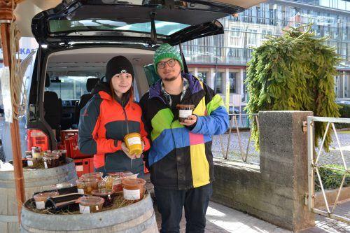 Laura Battisti und Markus Gitterle vom Restaurant Fuxbau freuen sich über die positive Resonanz zu ihrem Angebot.BI