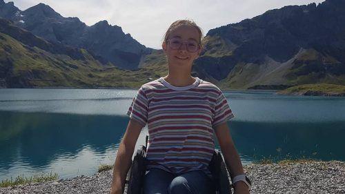 Martina Hehle vorigen Sommer beim Ausflug zum Lünersee.