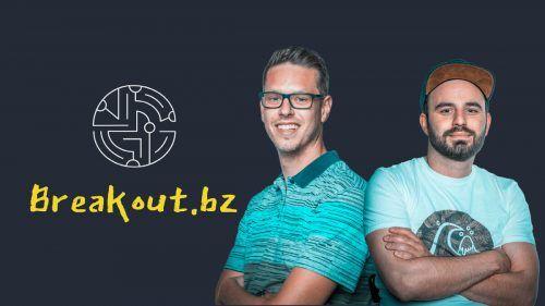 Nermin Brkic (l.) und Claudio Bertsch sehen der Eröffnung ihres Escape Rooms Breakout.bz mit großer Vorfreude entgegen.Handout
