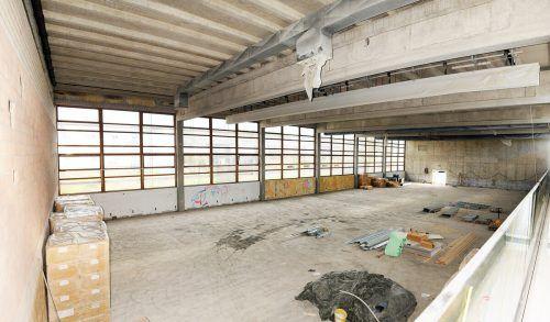 Die Innenausstattung der Sporthalle Mittelweiherburg in Hard kostet samt Geräten rund eine Million Euro. ajk
