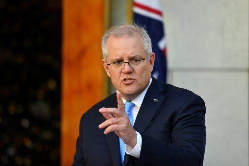 """Premierminister Morrison reagierte mit Unverständnis auf die Maßnahmen. Er nannte sie """"ebenso enttäuschend wie arrogant"""". AAP/euters"""