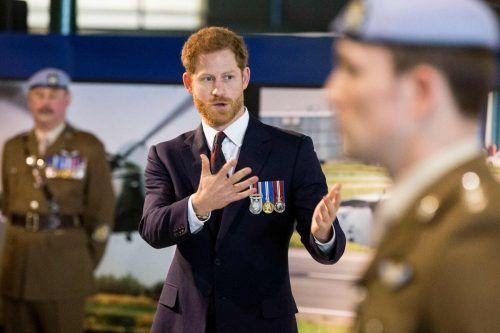 Prinz Harry dürfte seiner verlorenen Rolle im Militär nachtrauern.AFP