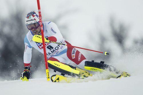 Schaffte es ins Schweizer Slalomteam für die Cortina-WM: Daniel Yule.gepa