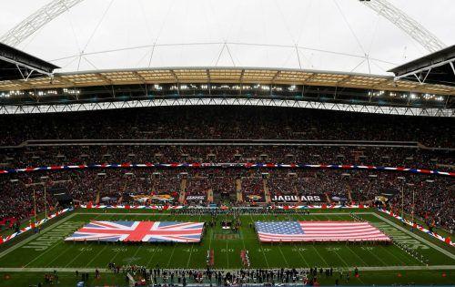 Seit 2007 finden jährlich im Londoner Wembleystadion offiziele Spiele der National Football League statt.REuters