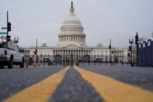 Seit den Ausschreitungen wird das Kapitol in Washington strenger bewacht. reuters