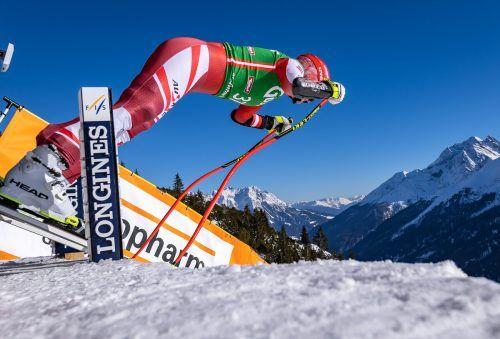 Statt langer Latten warten auf Ariane Rädler kurze Ski: Bei der WM-Kombination steht zuerst der Slalom auf dem Programm.gepa