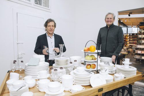 Stefan Grabher (r.) übernimmt Teile des Sortiments von Bernd Bösch. mary rose/l.mathis
