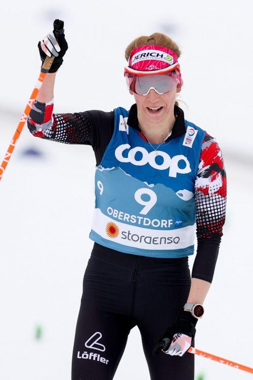 Teresa Stadlober zeigte, dass sie mit der Weltspitze im Langlauf mithalten kann.apa