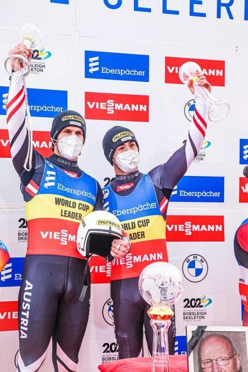 Thomas Steu und Lorenz Koller konnten ein Stück Rodel-Geschichte schreiben. Nach Gesamt -und Sprintweltcup holten der Bludenzer und sein Kollege auch den Sieg in der klassischen Disziplin.ÖRV
