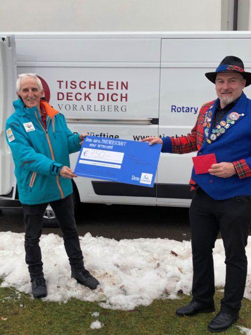 Tischlein deck dich: Elmar Stüttler und Bernd Jäger.
