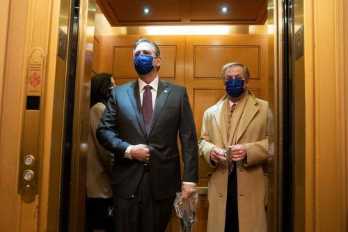 Trump-Anwälte: Bruce Castor (links) und Michael van der Veen. AFP