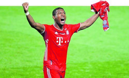 Vor seinem Abgang im Sommer möchte David Alaba noch über seinen zehnten Meistertitel mit dem FC Bayern München jubeln.ap