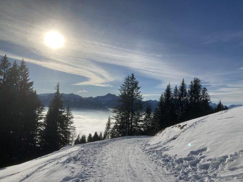 Wunderbare Winterlandschaft in Dünserberg.Elfi Mally