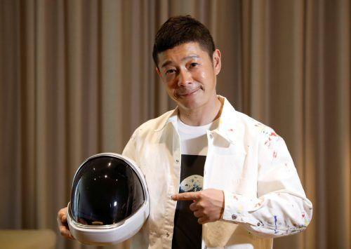 2023 will der japanische Milliardär Yusaku Maezawa den Mond umrunden. Reuters