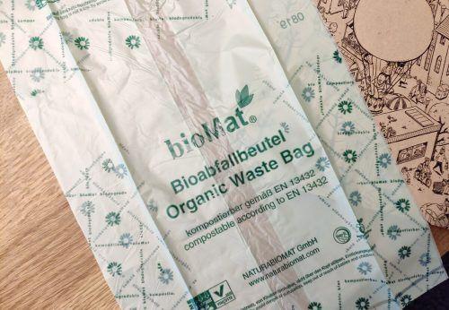 Ab sofort werden in Ludesch Biomüllsäcke aus Stärke abgegeben.M. Haller