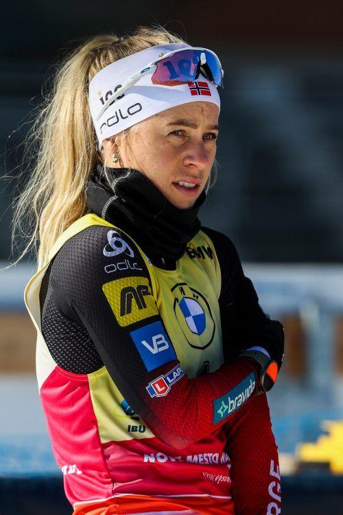 An Tiril Eckhoff kommt im Biathlon aktuell keine Gegnerin ran.gepa