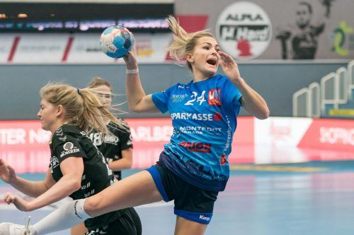 Vier Treffer von Anna Moosbrugger waren am Ende zu wenig.VN-Stiplovsek