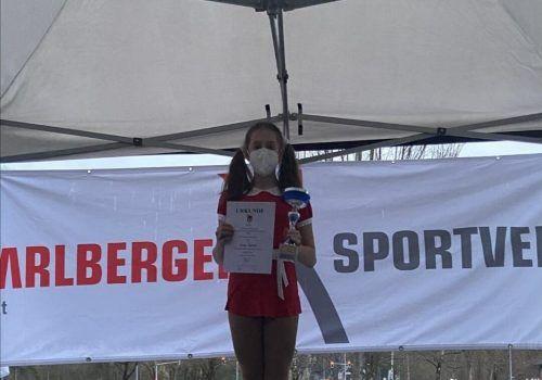 Anna Salzer bei der Landesmeisterschaft 2021.ESF