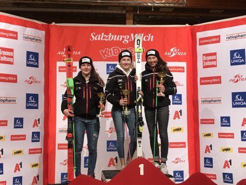 Antonia Muxel fuhr die erste Skimedaille bei der Schülermeisterschaft ein.vsvh
