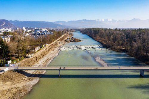 Hochwasserschutzprojekt an Bregenzerach: Wichtige Etappe bald abgeschlossen.Wasserverband Bregenzerach