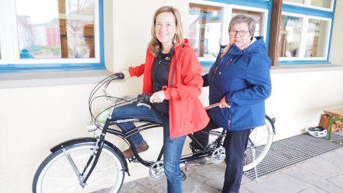 Beim letzten Fahrradbasar waren auch Gemeinderätin Gerlinde Wiederin und Ortsvorsteherin Ilse Mock mit von der Partie.Heilmann