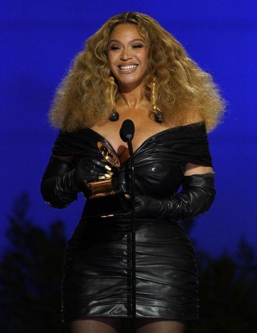 Beyoncé gewann ihren 28. Grammy und wurde damit zur am häufigsten ausgezeichneten Frau in der Geschichte der Musik-Preise der Recording Academy. AP