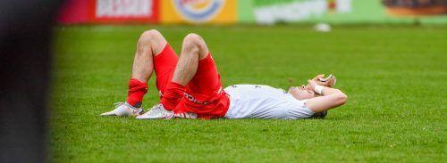 Bitter: Der FC Dornbirn verliert zuhause gegen Amstetten mit 0:1 und ist nun schon seit drei Spielen in Folge ohne Punkte.gepa