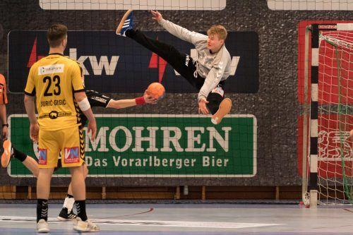 Teamgoalie Ralf-Patrick Häusle ist nach seiner Rückenblessur wieder rechtzeitig fit geworden.VN/Stiplovsek