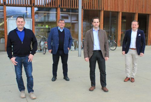 Bürgermeisterquartett: Martin Konzet, Willi Müller, Martin Schanung und Harald Witwer (v.l.)VN/JS