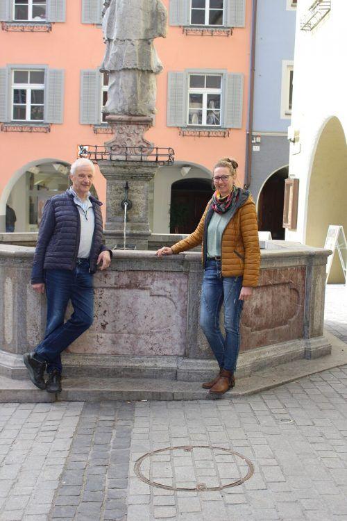 Carina Türtscher und Stefan Walser verbindet seit Jahren eine außergewöhnliche Freundschaft.Caritas