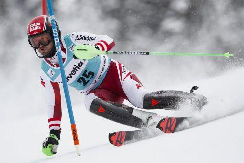 Christian Hirschbühl lieferte in Lenzerheide einen blitzsauberen zweiten Durchgang im Slalom und landete auf dem elften Rang.gepa