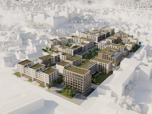 Das Projekt Martinshöfe im deutschen Weingarten wird von i+R realisiert. xoio