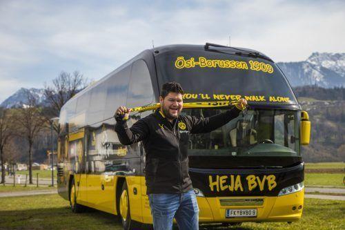 Der Bus steht abfahrtbereit in Feldkirch, jetzt hofft der Fanclub-Chef auf eine baldige Rückkehr der Fans in die Stadien.