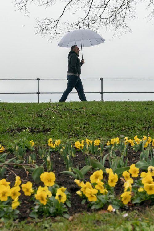 Der Frühlingsbeginn wird nass und kalt.