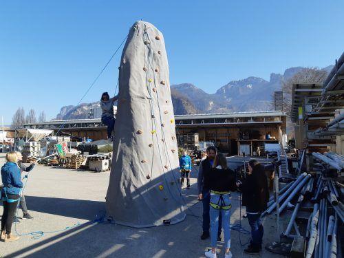 Der Kletterturm soll im Wechsel den Hohenemser Kindergärten zur Verfügung stehen.Stadt