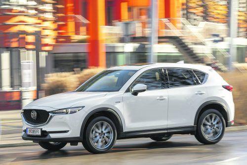 Der Mazda CX-5 fährt im Modelljahr 2021 mit einem technischen Update vor. Optisch ist alles beim Alten geblieben.werk